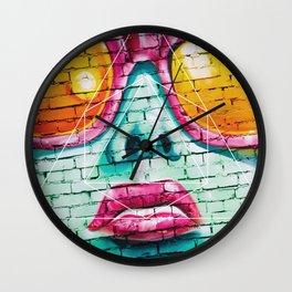 Graffiti Beauty - Geometric Photography Wall Clock