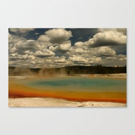 Sunset Lake Under A Cloudy Sky Canvas Print