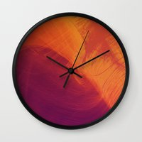 aurora Wall Clocks featuring Aurora by Allie at Shed63