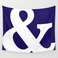 ampersand Wall Tapestries featuring Ampersand by AleDan
