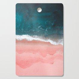 Turquoise Sea Pastel Beach III Cutting Board