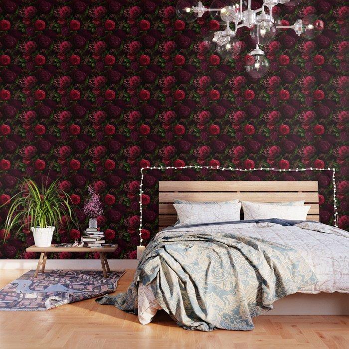 Vintage & Shabby Chic - Vintage & Shabby Chic - Mystical Night Roses Wallpaper