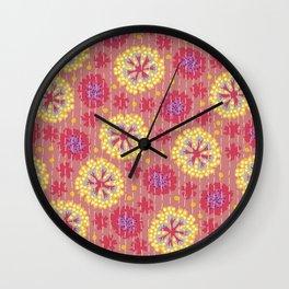 Kantha floral 7 Wall Clock