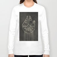 falcon Long Sleeve T-shirts featuring Millennium Falcon by LindseyCowley