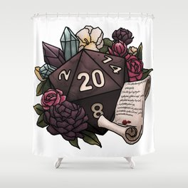 Warlock Class D20 - Tabletop Gaming Dice Shower Curtain