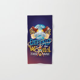 Defend your world v2 Hand & Bath Towel
