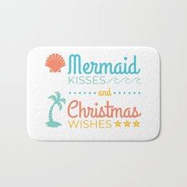 Mermaid Kisses and Christmas Wishes Bath Mat
