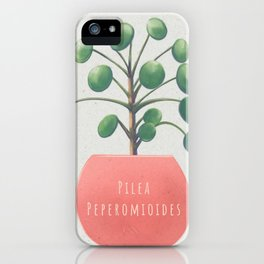Pilea Peperomioides aka Chinese Money Plant iPhone Case