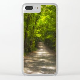 Forest Green Clear iPhone Case