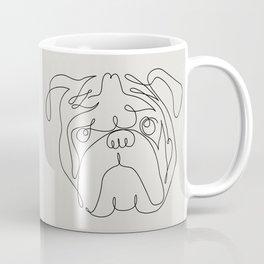 One Line English Bulldog Coffee Mug