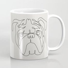 One Line English Bulldog Coffee Mug
