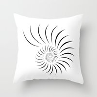 shell Throw Pillows featuring Shell by Andrew Formosa