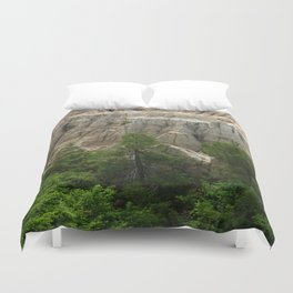 Badlands View From The Rim Road Duvet Cover