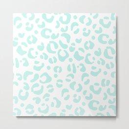 Blue & White Animal Print Metal Print
