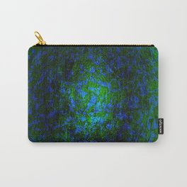 Abstract blue and green Carry-All Pouch