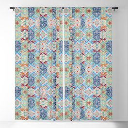 Oriental Traditional Eclectic Boho Moroccan Style  Blackout Curtain