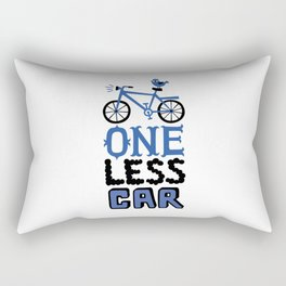 One Less Car Rectangular Pillow