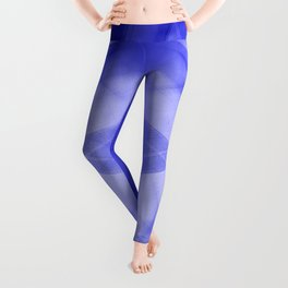 Vintage triangular strokes of intersecting sharp lines with indigo triangles and a star. Leggings