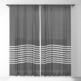 White Waves Sheer Curtain
