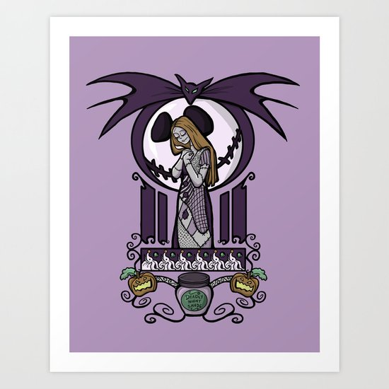 Nightmare Nouveau Art Print