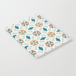 Geometric Pattern, oriental style (nature color set)  traditional morocco tile pattern Notebook