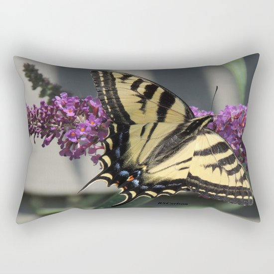 Western Tiger Swallowtail in the Shade Rectangular Pillow