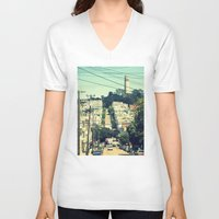san francisco V-neck T-shirts featuring San Francisco by Mr and Mrs Quirynen