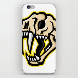 Saber-toothed Cat Skull Mascot iPhone Skin