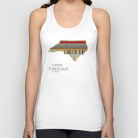 north carolina Tank Tops featuring North Carolina state map by bri.buckley