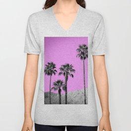 Pink Palm Trees / Desert / Palm Springs Unisex V-Neck