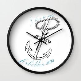 Forbidden Seas Wall Clock