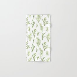 Cristmas watercolor fir and pine twigs Hand & Bath Towel