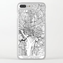 Washington Map White Clear iPhone Case