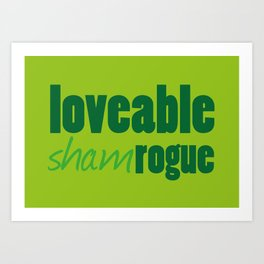 Loveable Shamrogue Art Print