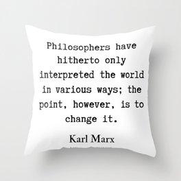 48    Karl Marx Quotes   190817 Throw Pillow