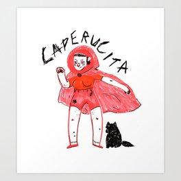 Caperucita Punk. Art Print