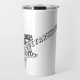 Guitar In Text Travel Mug