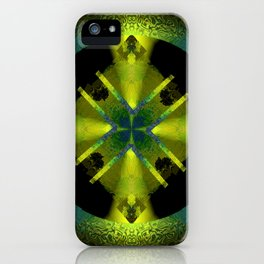 Spinning Wheel Hubcap in Lime Green iPhone Case