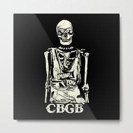 Punk You Vintage Skull CBGB Metal Print