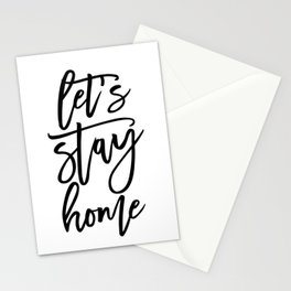 Let's stay home (5) Stationery Cards