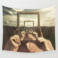 frame Wall Tapestries featuring Empty Frame by Seamless