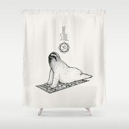 Sloth Be Still Shower Curtain