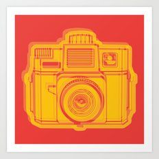 I Still Shoot Film Holga Logo - Reversed Yellow & Red Art Print