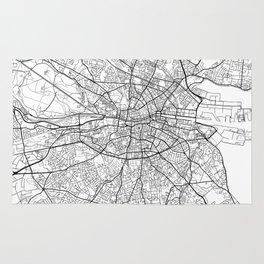 Dublin Map White Rug