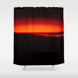 Night Lights Four Red Tail Lights Shower Curtain