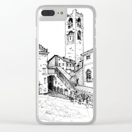 Old Square, Bergamo Clear iPhone Case