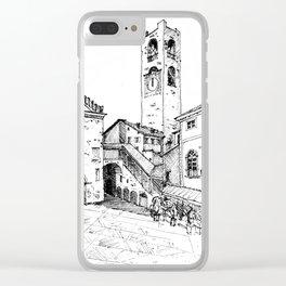 Old Square, Bergamo Clear iPhone Case