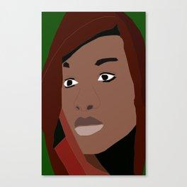Scarfed One Canvas Print