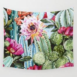 Watercolor Flowers Art Work Wall Tapestry