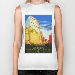 Zion National Park - Vintage Travel Biker Tank